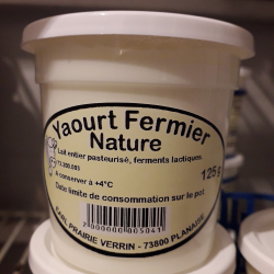 Yaourt Fermier Nature 4 x 125 ml