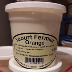 Yaourt Fermier Orange 4 x 125 ml